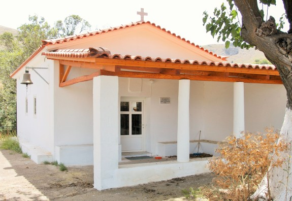 Agios Sozon Church located on the outskirts of Myrina along the road to Agios Dimitrios