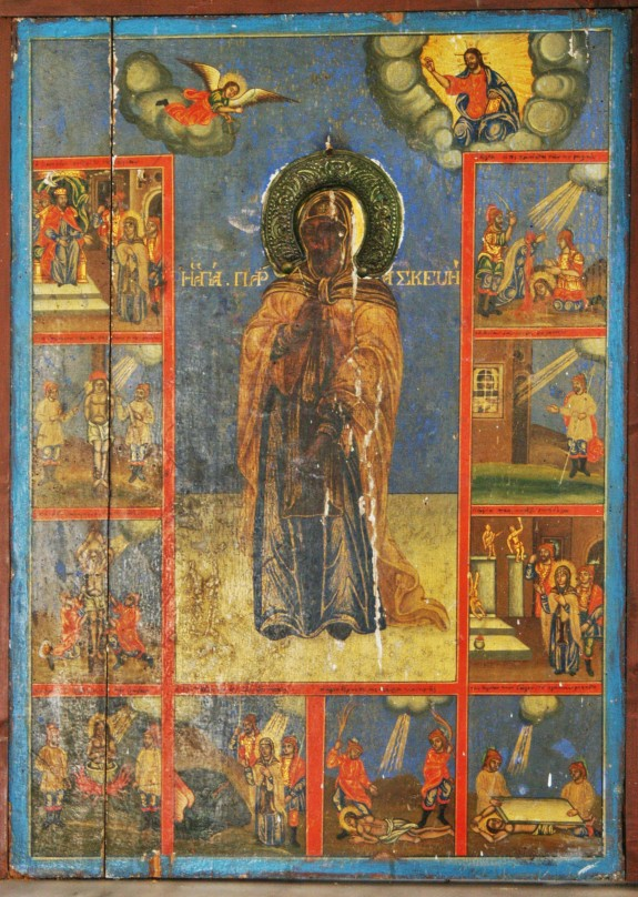 Antique icon from Agios Sozon (subject unknown)