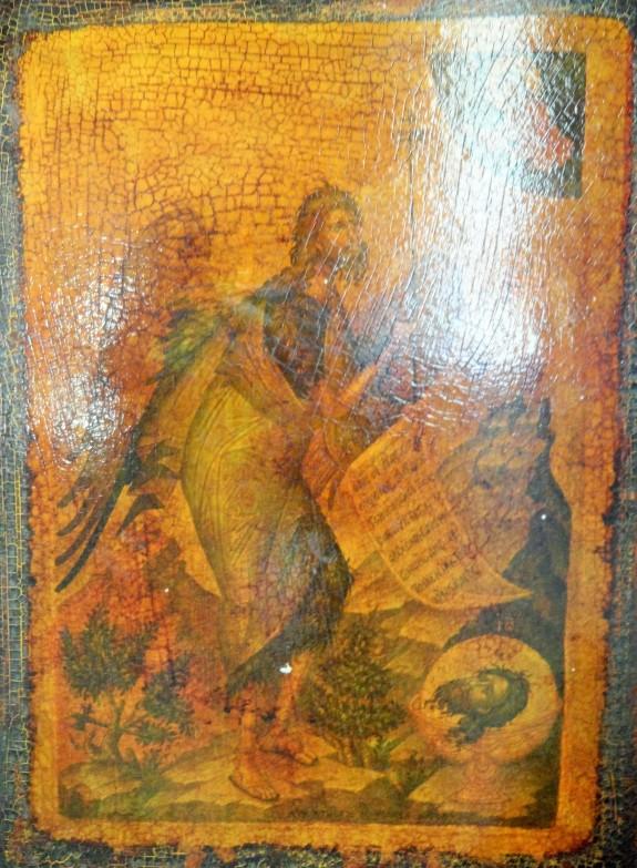 Saint John the Baptist(?) icon from Agios Sozon