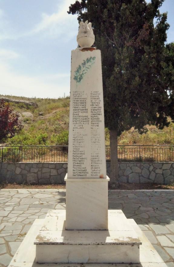 Obelisk on Agios Dimritrios grounds