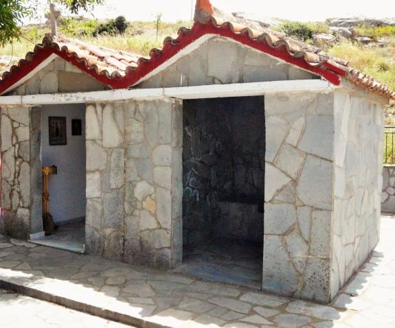 Prayer chapel and fountain building on Agios Dimitrios grounds