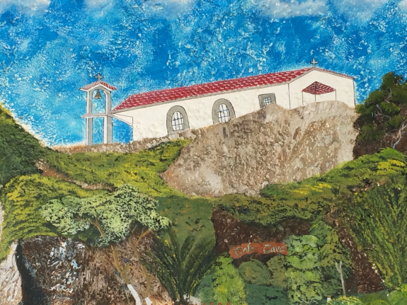Painting of the Church at Agios Yiannis