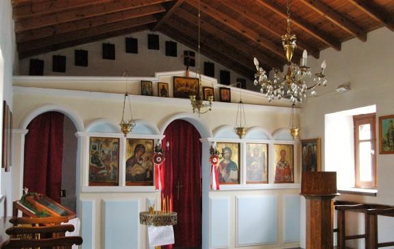 Iconostasis (?) verify name of Church at Agios Yiannis