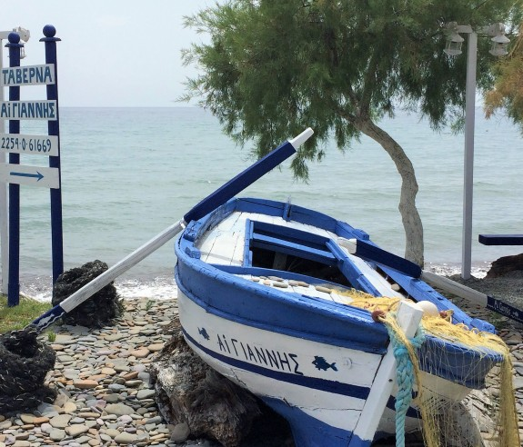 Fishing boat at Agios Yiannis Beach